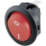 Marquardt 1881.1104 Round Rocker Switch 12A IP40 SPST Black w. Red…