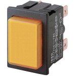 Marquardt 1660.0201 Illuminated Pushbutton 16A IP40 DPST Faston Orange
