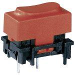Marquardt 6450.0006 Narrow Key Switch 100mA 28V SPNO with Red Cap