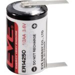 EVE ER14250T 1/2 AA Size 1200mAh Lithium Battery Cell 3.6V Tagged …