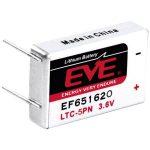 EVE EF651620 LTC-5PN Size 550mAh Lithium Battery Cell 3.6V PCB Pin…