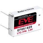 EVE EF651625 LTC-7PN Size 750mAh Lithium Battery Cell 3.6V PCB Pin…