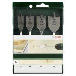 Bosch 2609255275 Flat Bit Set Hex Shank 16 to 32mm 4-pcs