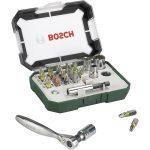 Bosch 2607017322 26-Piece Screwdriver Bit Set with Ratchet