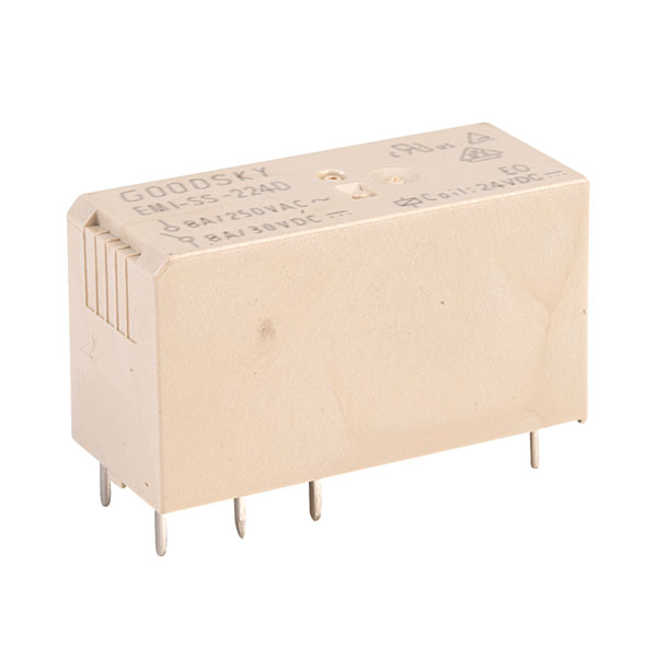 Hongfa HF115F0242ZS4AF 24VDC 8A DPDT Low Profile PC Power Relay