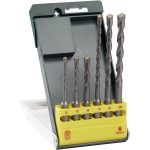 Bosch 2607019447 Carbide Hammer Drill Bit Set SDS-PLUS-S2/ 6-pcs