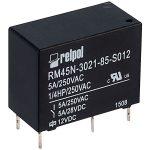 Relpol RM45N-3021-85-S012 SPST-NO Miniature Relay 12V 5A PCB