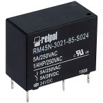 Relpol RM45N-3021-85-S024 SPST-NO Miniature Relay 24V 5A PCB