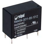 Relpol RM45N-3011-85-1012 SPDT Miniature Relay 12V 5A PCB