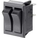 SCI R13-90PAA-01 R13-90P-AA-01 10A Dual Rocker Switch 2x SPST Off/On