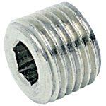 ICH 401743 Tapered Male Plug R1/4 Flangeless 60 bar Brass NP