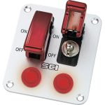 SCI R18-P2A Control Panel with 2x SPST Toggle Switches 12V DC 20A