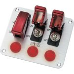 SCI R18-P3A Control Panel with 3x SPST Toggle Switches 12V DC 20A