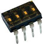 TE 1825006-7 GDS DIP Piano Switch Gold 4P Black