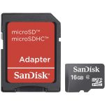 SanDisk SDSDQM-016G-B35A microSDHC Memory Card Class 4 16GB and S…