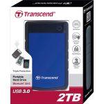 Transcend TS2TSJ25H3B StoreJet 25H3 USB 3.0 External Hard Drive 2T…