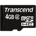 Transcend TS4GUSDC2 microSDHC Class 2 Card 4GB