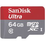SanDisk SDSDQUIN-064G-G4 Ultra microSDHC UHS-I Card for Cameras 64GB