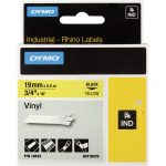 DYMO S0718470 / 18433 Rhino Vinyl Tape ID1 19mm x 5.5m Black on Yellow