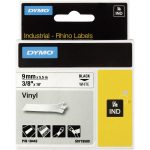DYMO S0718580 / 18443 Rhino Vinyl Tape ID1 9mm x 5.5m Black on White