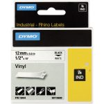 DYMO S0718600 / 18444 Rhino Vinyl Tape ID1 12mm x 5.5m Black on White