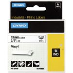DYMO S0718620 / 18445 Rhino Vinyl Tape ID1 19mm x 5.5m Black on White