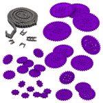 VEX IQ Chain and Sprocket Kit (Purple)