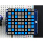Adafruit 1853 Small 1.2″ 8×8 Bright Square LED Matrix with I2C Bac…