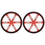 Pololu 1436 Wheels 90x10mm Red (Pair)