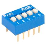 ECE EDG105S Excel 5 Pole 10 Pin DIL Switch