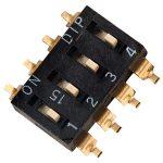Diptronics EM-04 4 Pole 8 Pin SMD DIL Switch