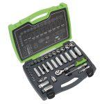 Sealey AK7960 Socket Set 34pc 3/8″Sq Drive 6pt WallDrive Metric