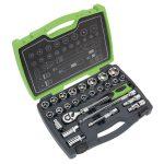 Sealey AK7961 Socket Set 26pc 1/2″Sq Drive 6pt WallDrive Metric