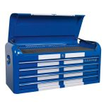 Sealey AP41104BWS Topchest 4 Drawer Wide Retro Style – Blue with W…