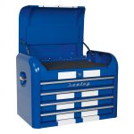 Sealey AP28104BWS Topchest 4 Drawer Retro Style – Blue with White …