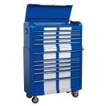 Sealey AP41COMBOBWS Retro Style Wide Topchest and Rollcab 10 Drawer …