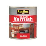 Rustins POGC500 Polyurethane Varnish Gloss Clear 500ml