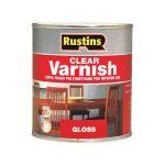 Rustins POGC5000 Polyurethane Varnish Gloss Clear 5 Litre