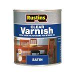 Rustins POSC1000 Polyurethane Varnish Satin Clear 1 Litre