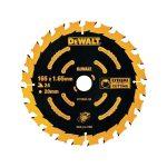 DeWalt DT10624-QZ Circular Saw Blade 165 x 20mm x 24T Cordless Ext…