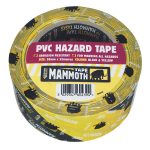 Everbuild 2HAZYW PVC Hazard Tape Black / Yellow 50mm x 33m