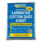 Everbuild LAMDUST Laminated Cotton Dust Sheet 3.6 x 2.7m