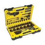 Stanley STHT0-72655 Tech 3 Socket Set of 78 1/4in and 1/2in Drive