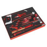 Sealey TBTP06EU Tool Tray with Hacksaw, Hammers and Punches 13pc