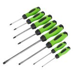 Sealey HV002 Screwdriver Set 8pc Hammer-Thru Hi-Vis