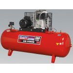 Sealey SAC55075B Compressor 500ltr Belt Drive 7.5hp 3ph 2-Stage