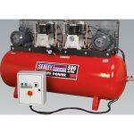 Sealey SAC5507575B Compressor 500ltr Belt Drive 2 x 7.5hp 3ph 2-Stage