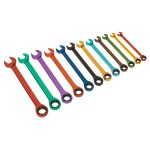 Siegen S01075 Ratchet Combination Spanner Set 12pc Multi-Coloured …