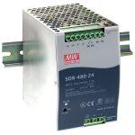 Mean Well SDR-480-24 24V / 480W Slim/High Efficiency PSU Active PFC