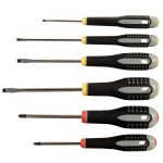 Bahco Ergo BE-9881 6 Piece Slotted/Phillips Screwdriver Set